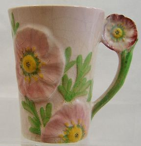 Carlton Ware Pink Buttercup Chocolate Mug - no cover - 1936 - SOLD